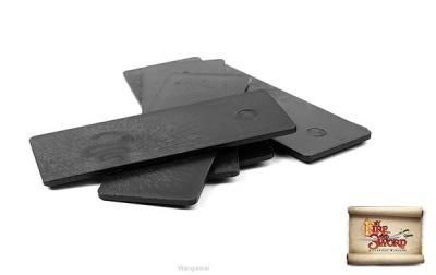 Plastic bases 3x8 cm