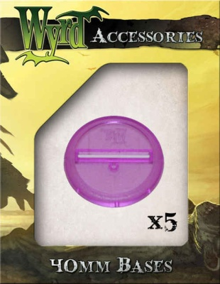 Purple Translucent Bases 40mm (5)