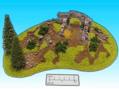 Geländestück Ruine (15mm)