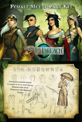 Through the Breach RPG: Multi-Part Miniature Kit (Female)
