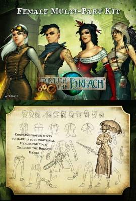 Through the Breach RPG: Multi-Part Miniature Kit (Female)