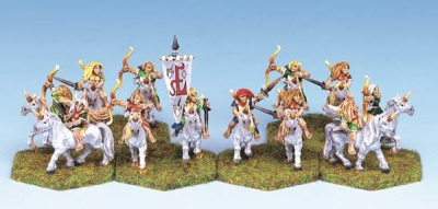 Wood Elf Female Unicorn Riders (12)