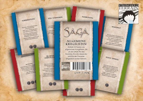 SAGA Allgemeine Kriegslisten - Kartenset