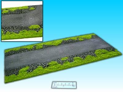 Geländestück Pflasterstrasse Gerade