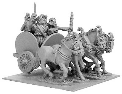 Indian 4-horsed chariot w/ 4 crew