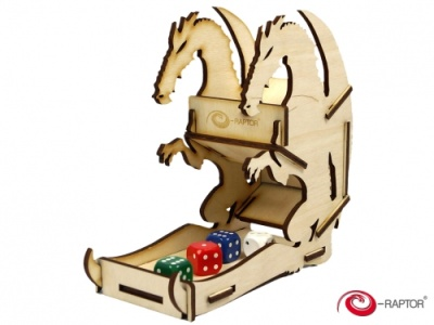 Dice Towers Small: Dice Tower - Dragon (Wooden)