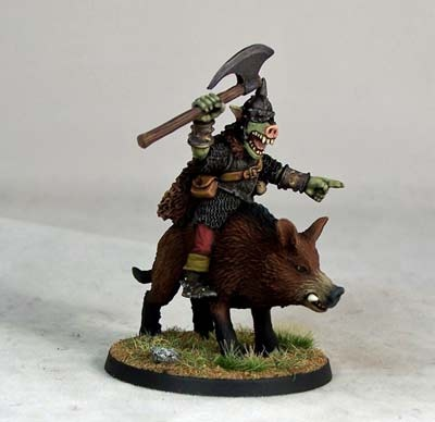 Pig-faced Orc Boar-rider Chieftain