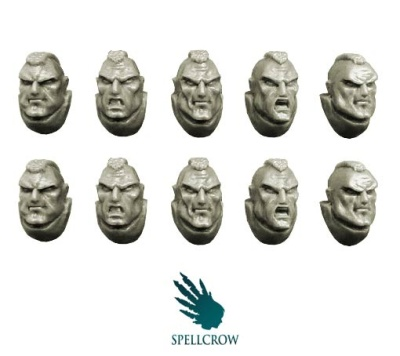 Space Knights Marines heads (10)