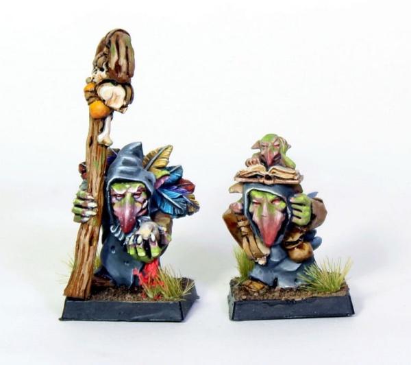 Goblin shaman and apprentice
