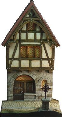 Mittelalterliche Fassade (Dorfeingang)