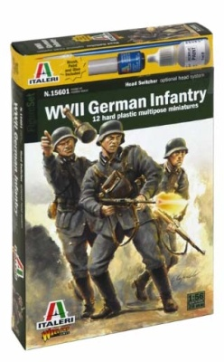 1:56/28mm WW2 German Infantry (12) OOP