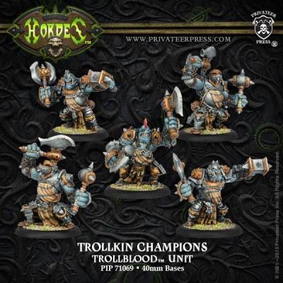 Trollblood Trollkin Champions Unit (5) Box (plastic)