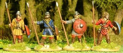 Unarmoured Spearmen Standing (5)