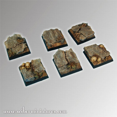 Rocky 25 mm square bases