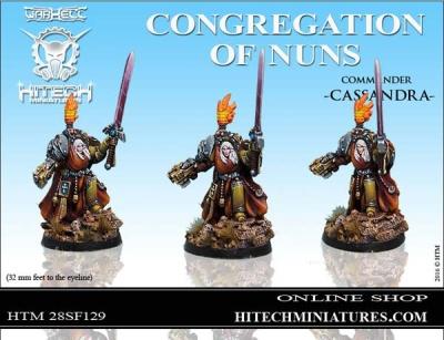 28mm  Nuns Commander Cassandra