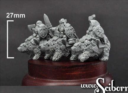 15mm Dwarven Lords on War Bears
