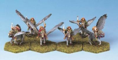 Wood Elf Pegasus Riders (6)