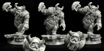 28mm/30mm Ogre Football Player #6