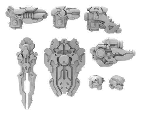 Morningstar A Weapon Pack - Warcaster Iron Star Alliance Pac