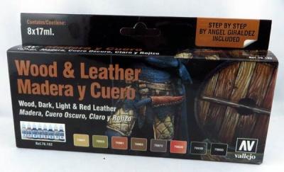 Vallejo Model Color: Set: Wood & Leather Set (8)