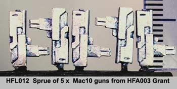 Sprue of 5 Mac10 SMG (5)