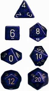 Chessex Golden Cobalt Speckled 7-Die Set