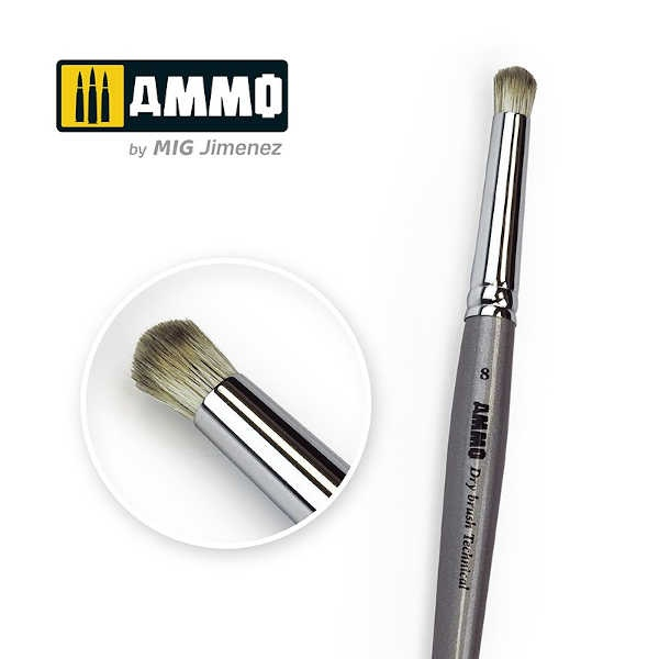 AMMO Drybrush Technical Brush #8