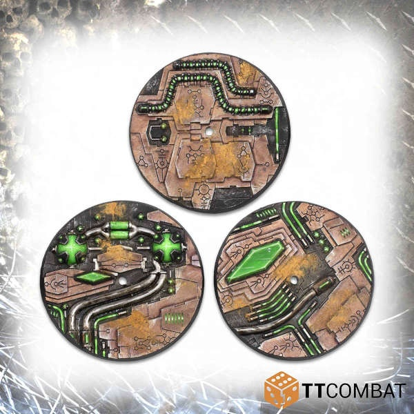 60mm Tomb World Flight Bases (3)