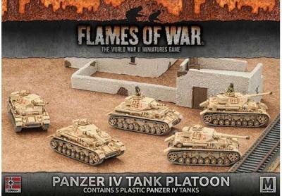 Afrika Korps Panzer IV Tank Platoon (Plastic x 5)