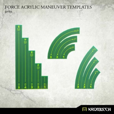 Force Acrylic Maneuver Templates [green]