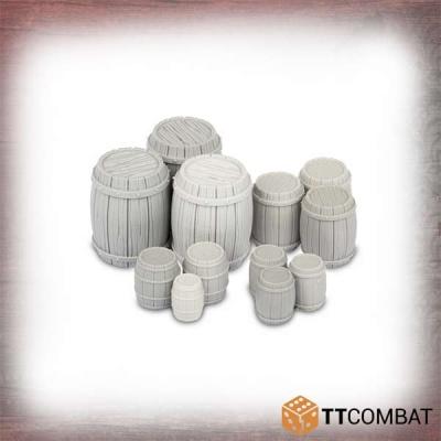 Wooden Barrels (12)