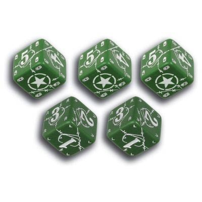 Battle Dice USA Green & White (5)