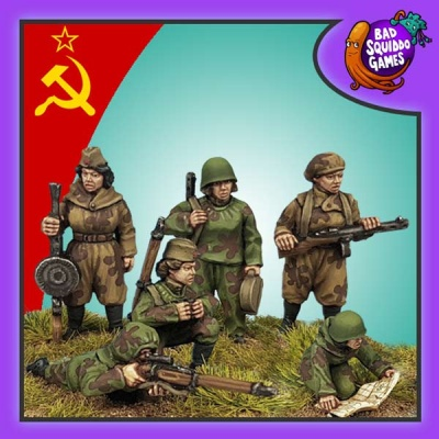 Female Soviet Scouts - Full Set (6)
