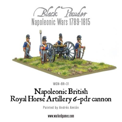 Napoleonic British Royal Horse Art 6pdr