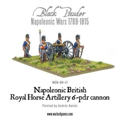 Napoleonic British Royal Horse Art 6pdr