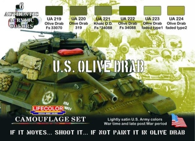 """Olive Camouflage Set  """"Amerikanische Panzer"""""""