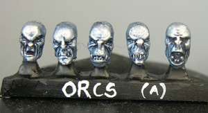 Orc heads (a) Sprue of 5 (5)