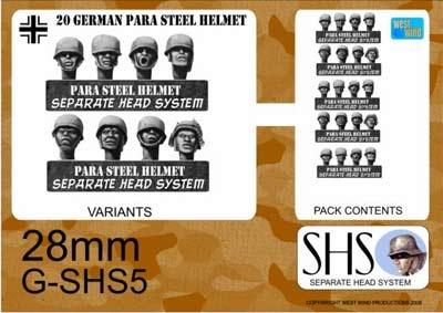 GERMAN PARAS IN STEEL HELMETS