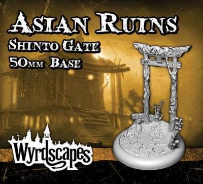 Wyrdscapes - Asian Ruins 50mm Base (Shinto Gate)
