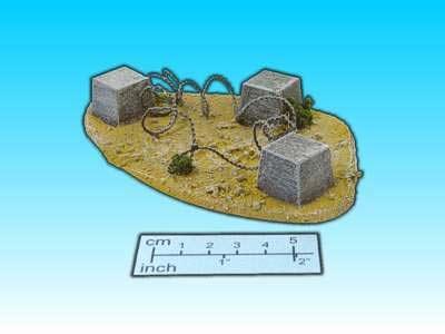 Geländestück Sandbarrikade