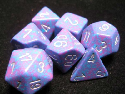 Chessex Silver Tetra Speckled 7-Die Set