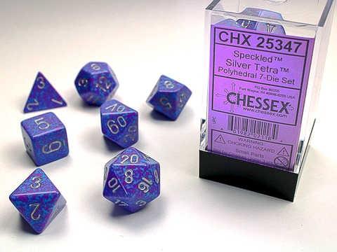 Chessex Silver Tetra Speckled 7-Die Set