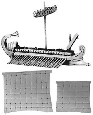 Roman Quinquereme with Corvus (furled & set main