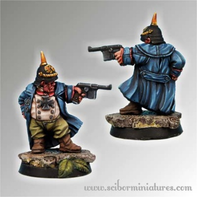 28mm Dwarf Sturmgrenadier Officer