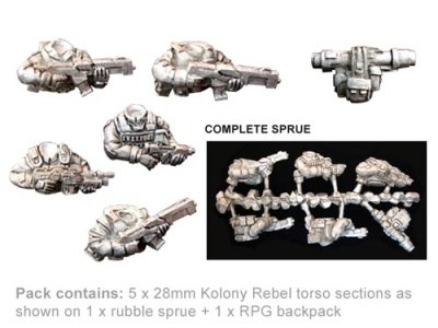 Kolony Rebel Torso sprue (5)