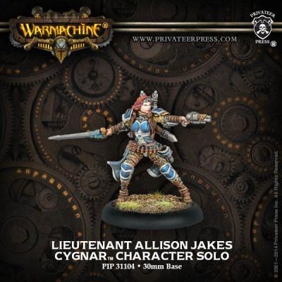 Cygnar Solo Lieutenant Allison Jakes