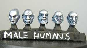 Human male heads (a) Sprue of 5 (5)