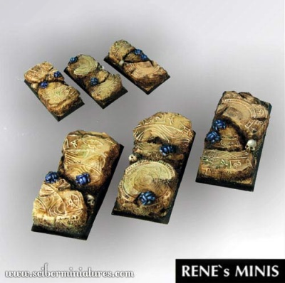 Egyptian Ruins Square Bases 50mm / 25mm (3) (OOP)