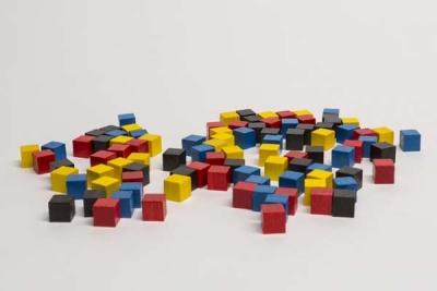 Set Holzwüfel 9 mm / set cubes 9 mm