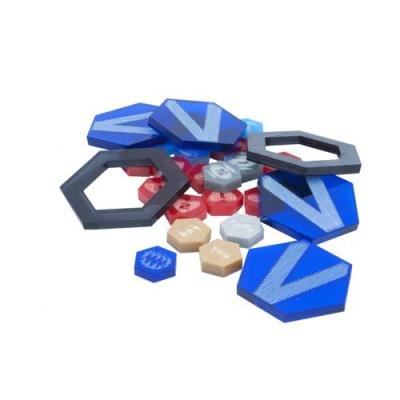 DreadBall Xtreme Acrylic Counters - Blue